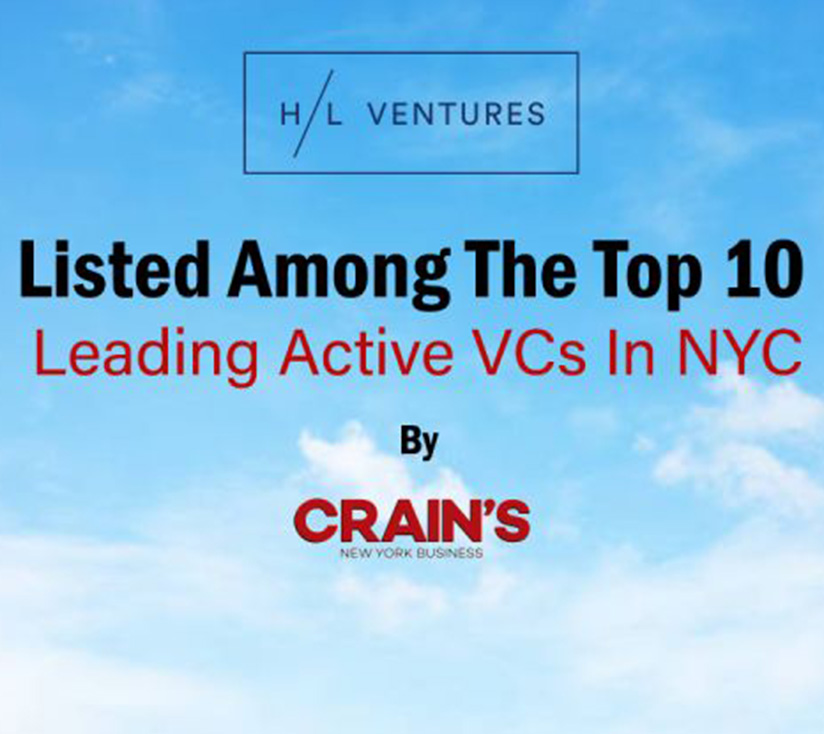 Crain's ranks H/L as one of the most active VC firms in NYC for the second year in a row